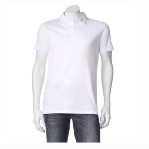 Men's modern fit solid white polo